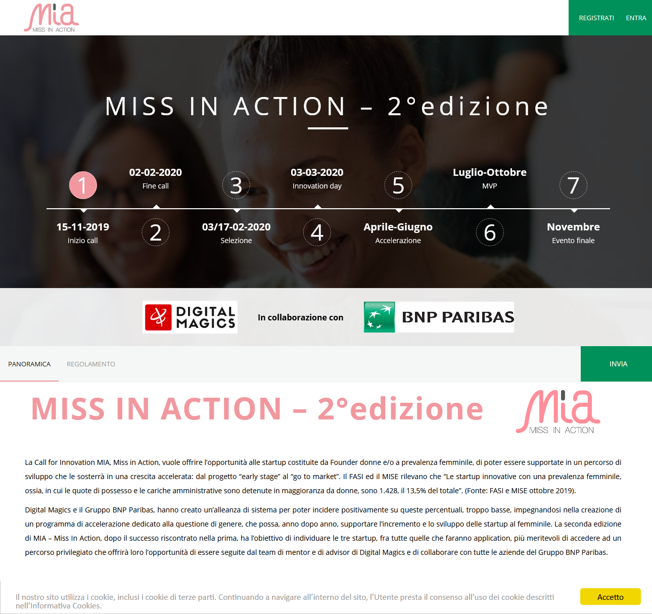 MISS IN ACTION – 2°edizione