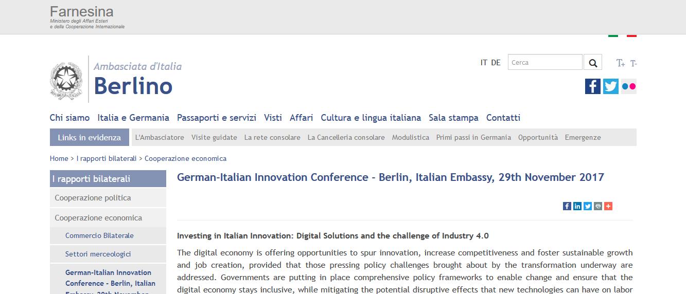Evento Ambasciata di Italia Berlino