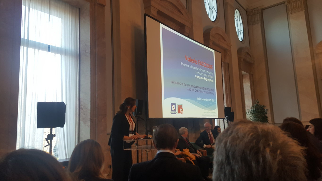 Valeria Fascione, Regional Minister for International Trade, Innovation and Start-Ups Campania